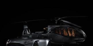 Her er helikopteret med vingene til Aston Martin. (Alle foto: AM)