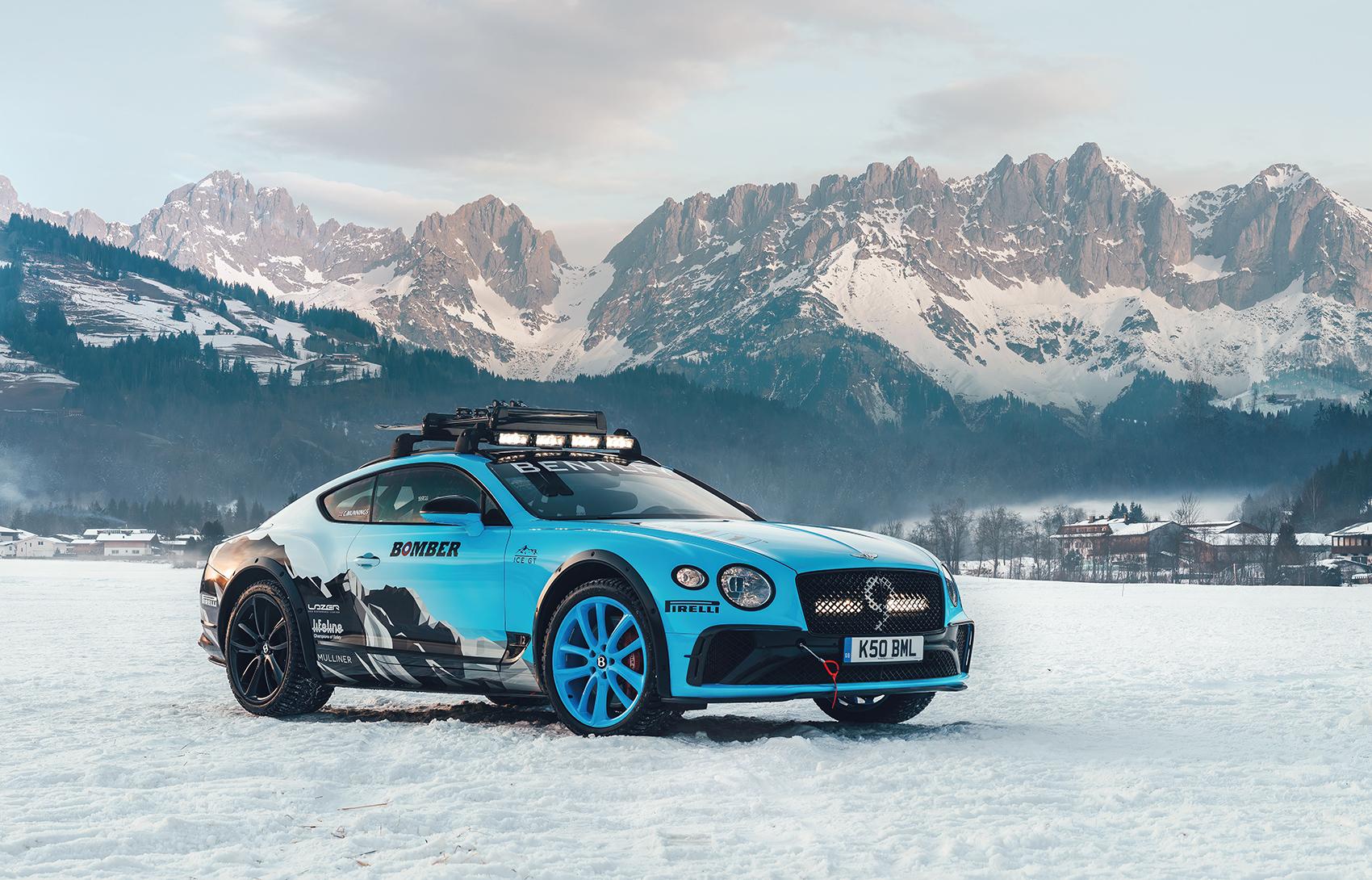 Bentley slår til med en skikkelig vinterutgave av Continental GT, men denne får du ikke kjøpt. (Alle foto: Bentley)