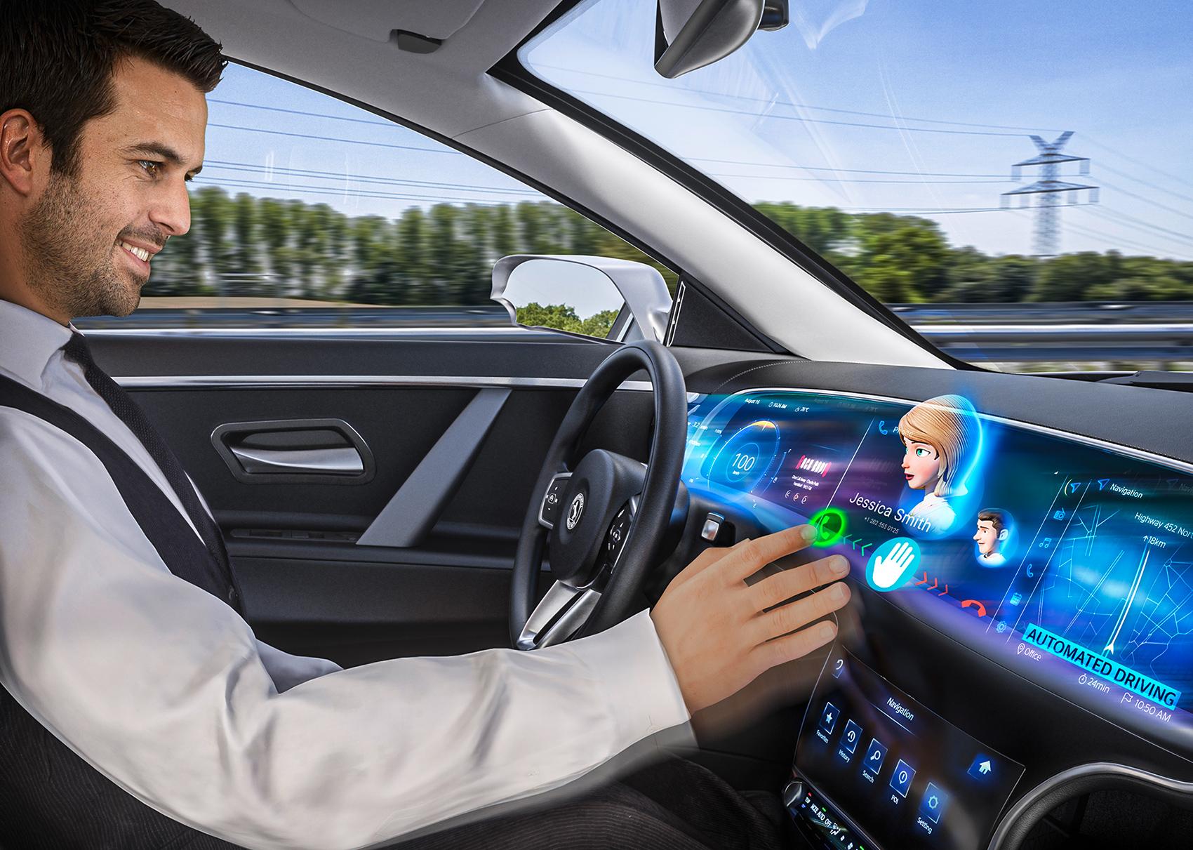 Framtidens biler kan komme med en ånd i dashbordet, og kanskje innfrir den tre ønsker? (Begge foto: Continental)