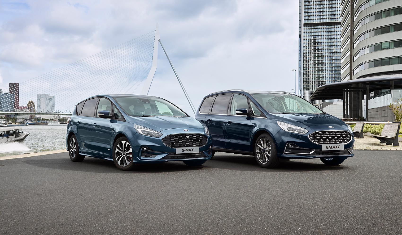 Ford skal nå lage hybridversjoner av S-Max og Galaxy. (Foto: Ford)