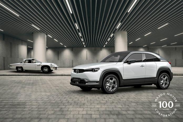 Mazda ar nådd den respektable alderen 100 år. (Alle foto: Mazda)