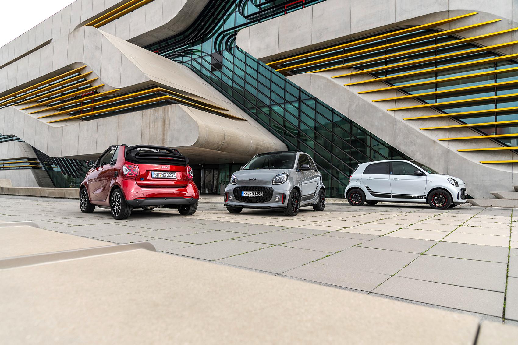 Geely og Daimler oppretter et nytt selskap som skal lage kommende Smart-modeller. (Begge foto: Daimler)