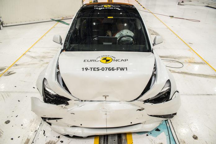 Tesla Model 3 imponerte stort da Euro NCAP krasjtestet bilen i fjor. (Alle foto: Euro NCAP)