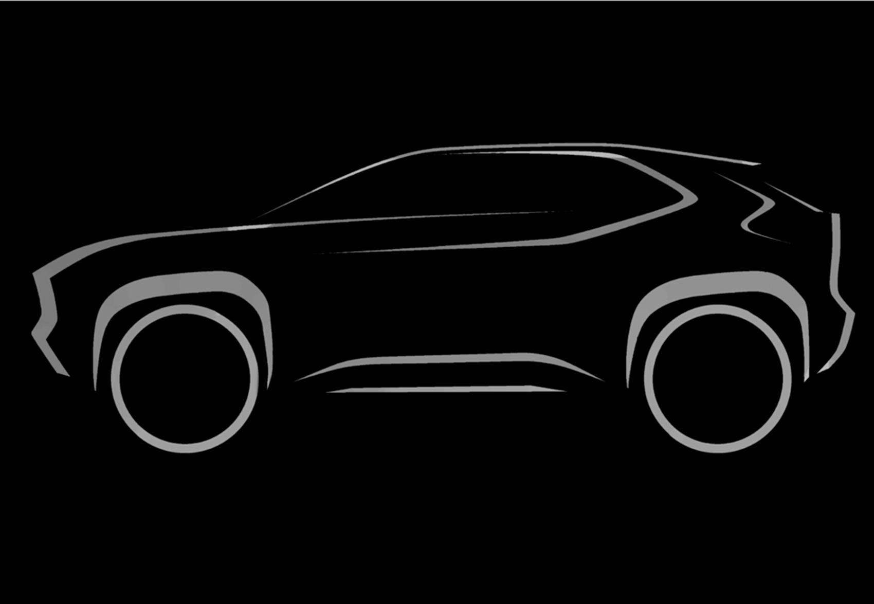 Toyota viser en skisse til en ny kompakt SUV-modell. (Foto: Toyota)