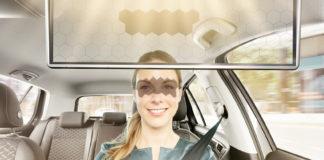Dette er en meget smart oppfinnelse, en gjennomsiktig solskjerm. (Alle foto: Bosch)