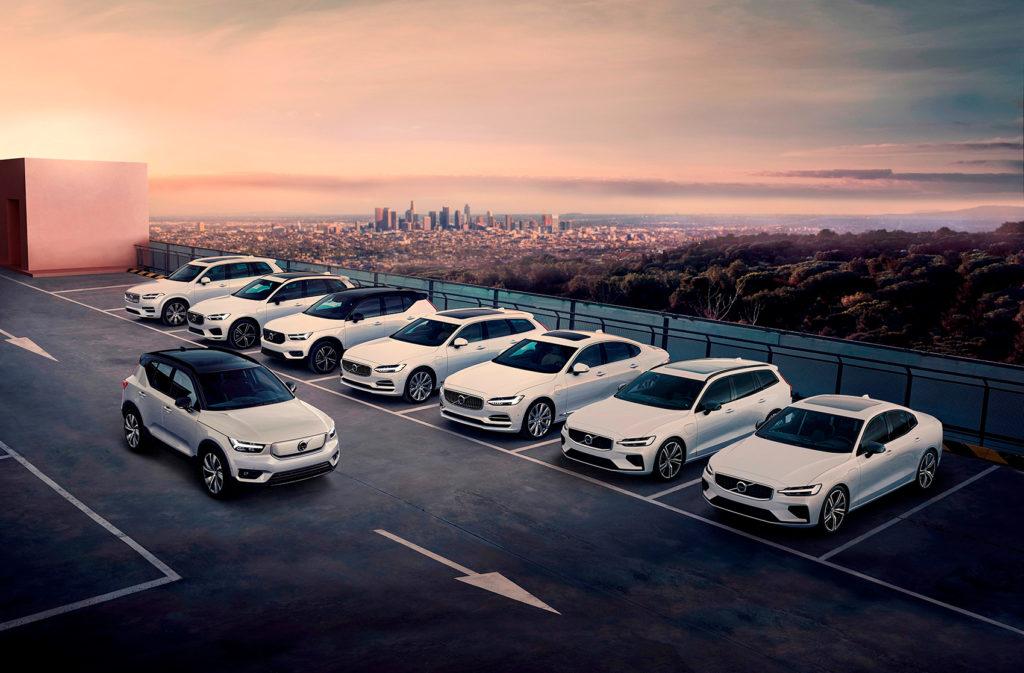 Volvo har elektrifisert alle modellene. (Foto: Volvo)