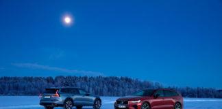 Volvo regjerer stadig hjemmemarkedet. Her er Volvo V60 Cross Country T5 og Volvo V60 T8. (Begge foto: Volvo)