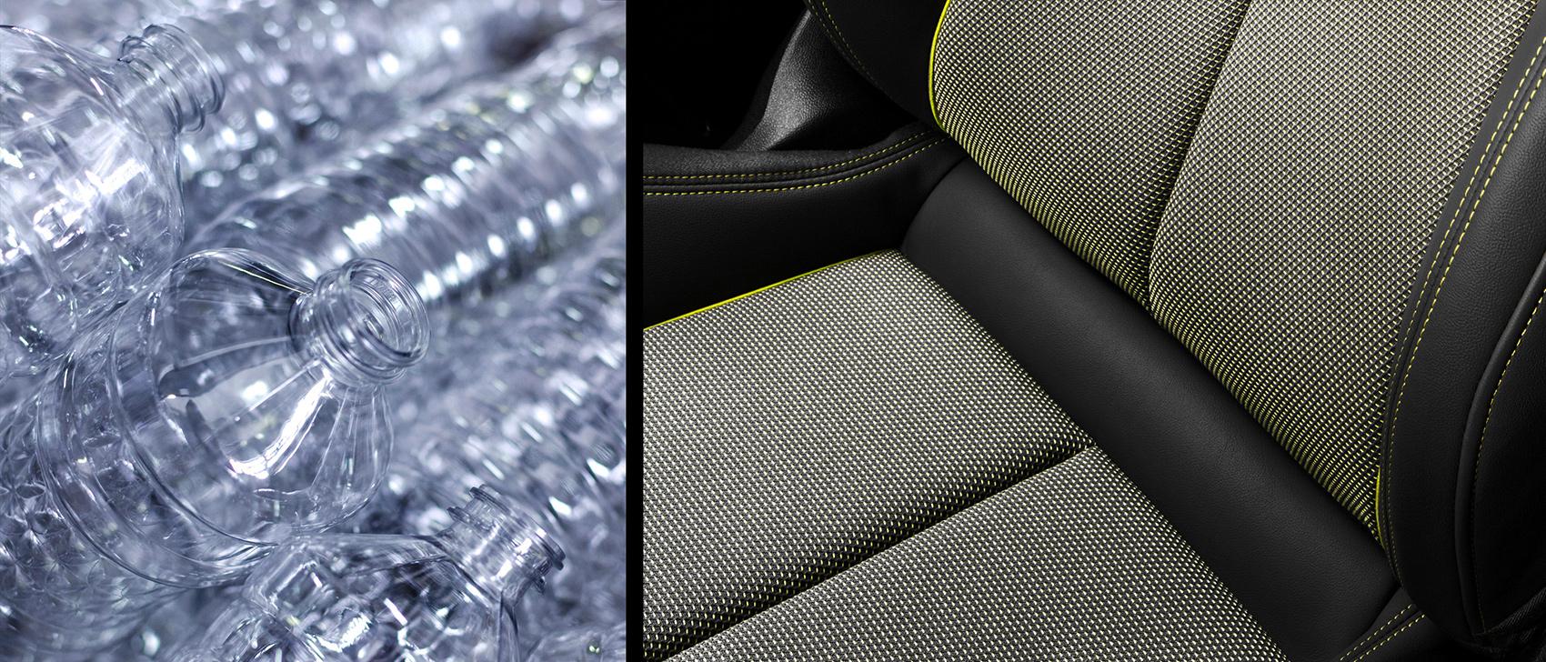 Audis kommende A3 er utstyrt med setetrekk som faktisk stammer fra plastflasker. (Alle foto: Audi)