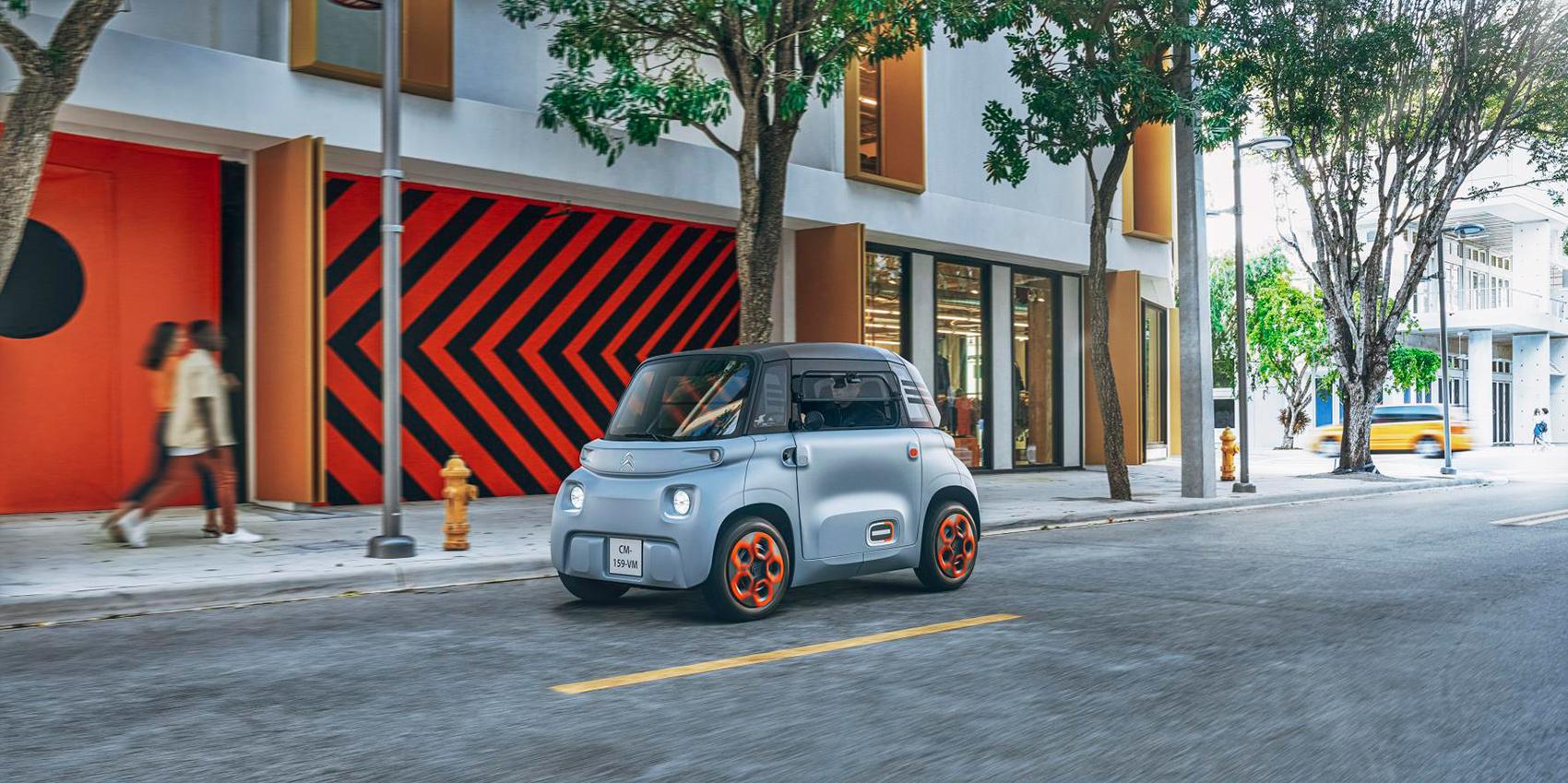 Denne elbilen kan kjøres av 16-åringer. (Alle foto: Citroën)