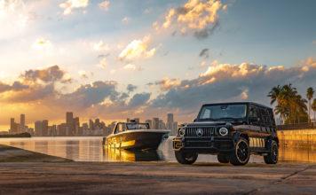 Her er en bil og en båt med AMG-merket. (Alle foto: Merecedes)