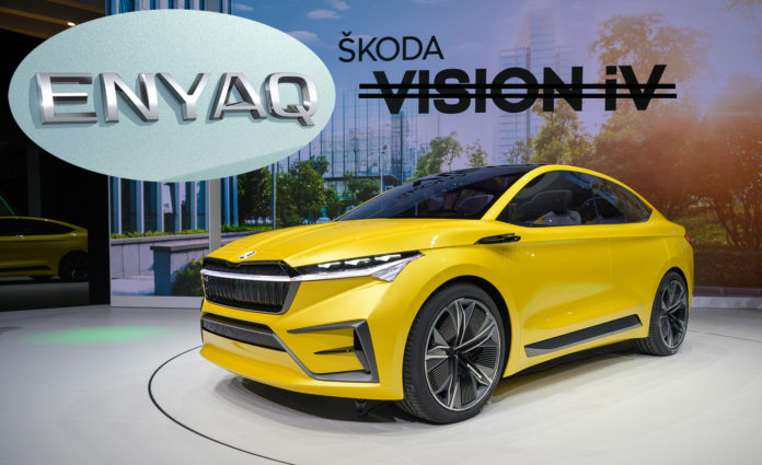 Skoda har avslørt navnet på den kommende elbilen. (Alle foto: Skoda)