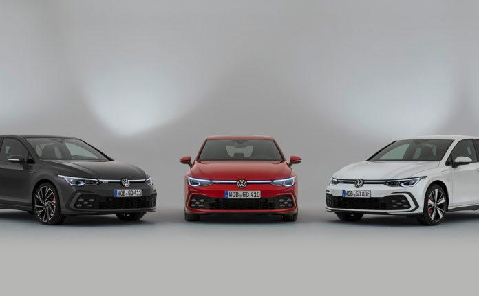 Her er de tre nye medlemmene i Golf GT-familien, GTI, GTE og GTD. (Alle foto: Volkswagen)