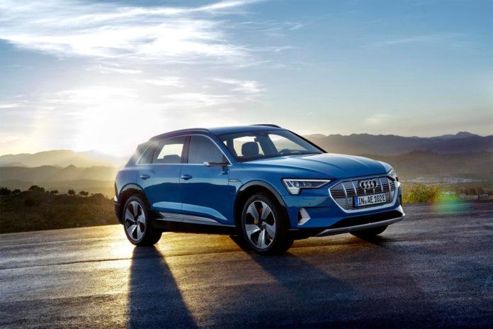 Audi e-tron er Norges mest registrerte bil i februar, og har fått et solid forsprang i kampen om årets mest solgte bil bare etter to måneder. (Alle foto: Audi)