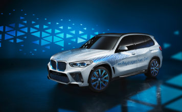 Dette er en BMW-modell som er en hydrogenbil. (Fotos: BMW)