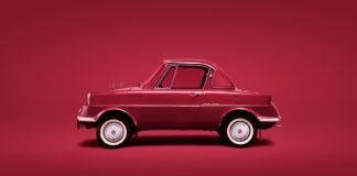 Mazdas aller første personbil runder 60 år, R360. (Alle foto: Mazda)