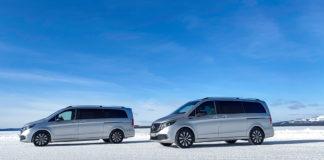 Mercedes har nå gjennomført de siste vintertestene rundt den elektriske flerbruksbilen EQV. (Fotos: Mercedes)