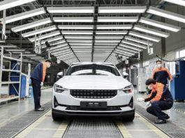 Nå er produksjon av elbilen Polestar 2 i gang. (Fotos: Polestar)