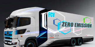 Toyota går sammen med Hino for å lage en hydrogendrevet lastebil. (Foto: Toyota)