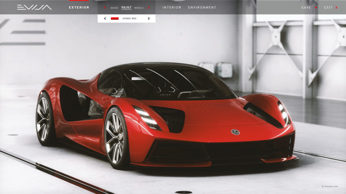 Lotus har utviklet en ny konfigurator for hyperbilen Evija. (Fotos: Lotus)