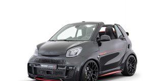 Hva sier du til en pimpet og raskere Smart EQ Fortwo cabriolet? (Fotos: Brabus)