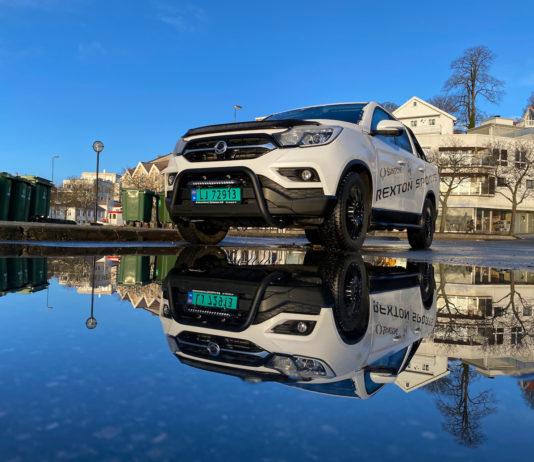 Dette er en SsangYong Rexton Sports Q200 EX, en pickup til under 300.000 kroner. (Fotos: Nybiltester)