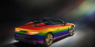 En slik Bentley har du garantert ikke sett, og det er jo en flott fargekombinasjon. (Fotos: Bentley)