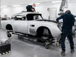 Aston Martin er i gang med å bygge DB5-modellen, 55 år etter at de sist lagde den. (Fotos: Aston Martin)