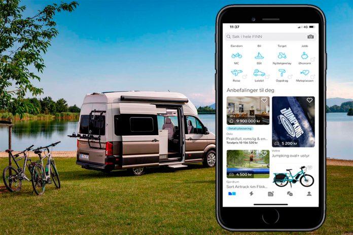 Folk er ivrige på Finn, og søker spesielt etter brukte båter og bobiler. (Foto: VW/Finn)