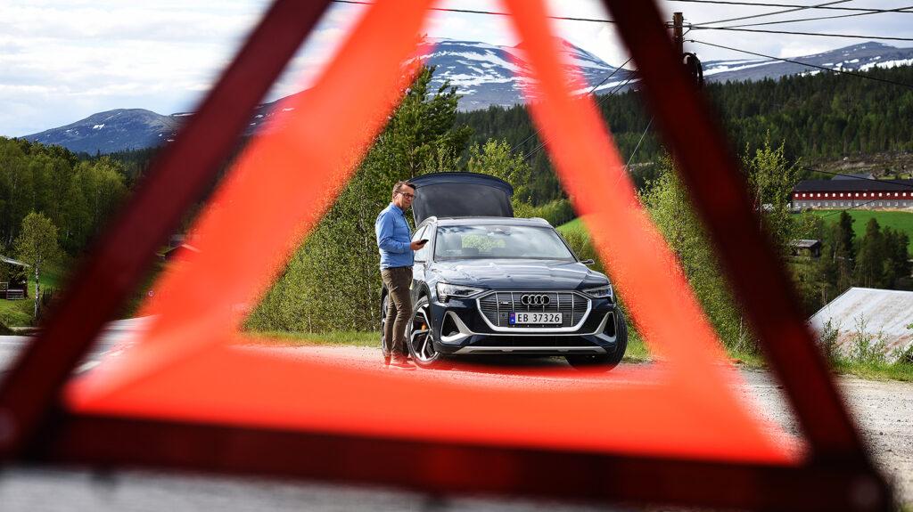 Audi e-tron Sportsback 55 var med for første gang , og gikk imponerende 60 kilometer lenger enn oppgitt rekkevidde.