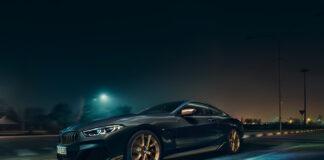 Dette er en spesiell utgave av BMW 8-serie. En ekte gullversjon. (Fotos: BMW)