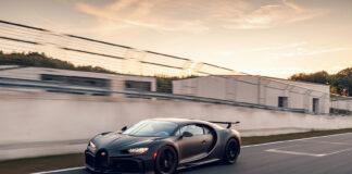 Bugatti tester for tiden utgave Chiron Pur Sport, en bil som er laget for å sluke svinger. (Fotos: Bugatti)