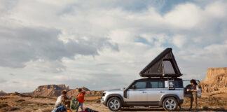Nå blir det også mulig å skaffe seg et spesialtelt til Land Rover Defender. (Fotos: Land Rover)