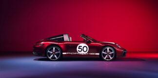 Porsche hyller 1950-tallet med en spesiell arv-versjon av den akkurat lanserte 911 Targa. (Fotos: Porsche)