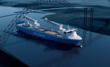 Dette frakteskipet bygges om til en seilskute. (Fotos: Enova)