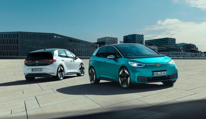 Volkswagen ID. 3 nærmer seg nå bilforhandlerne. (Fotos: VW)
