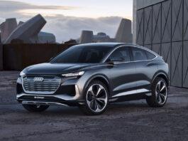 Ja, Audi har på gang en coupéversjon av den kommende elbilen Q4 e-tron. Slik ser Q4 e-tron Sportback ut. (Fotos: Audi)