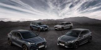Her er dagens fire modeller til Cupra, og snart vokser familien til fem. (Fotos: Seat)