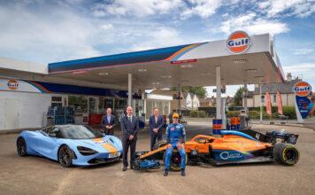 McLaren og Gulf har signert en sponsorkontrakt, og gjenoppliver dermed et legendarisk samarbeid fra 1960-tallet. (Fotos: McLaren)