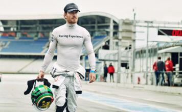 Michael Fassbender har et stort mål, nemlig Le Mans. (Fotos: Porsche)