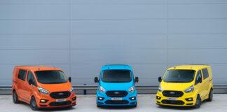 Ford byr på noen rallyinspirerte utgaver av Ford Transit. (Fotos: Ford)