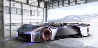 Ford har laget seg en digital superbil som kan forandre form mens den kjører. (Fotos: Ford)