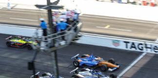 Her skulle gjerne Fernando Alonso vært. Takuma Sato vant årets Indy 500, som ble avsluttet bak sikkerhetsbilen. (Foto: Honda)