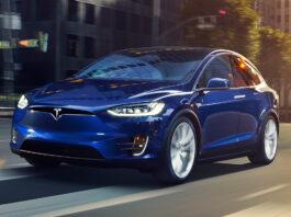 Tesla dro to priser i den første elbil-kåringen til What Car? Her Model X. (Fotos: Tesla)