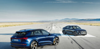 Audi har nå klare to mer sportslige versjoner av e-tron, e-tron S og e-tron S Sportback. (Fotos: Audi)