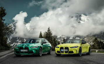 Det er to potente søstre på gang, nemlig BMW M3 Sedan og BMW M4 Coupé. (Fotos: BMW)