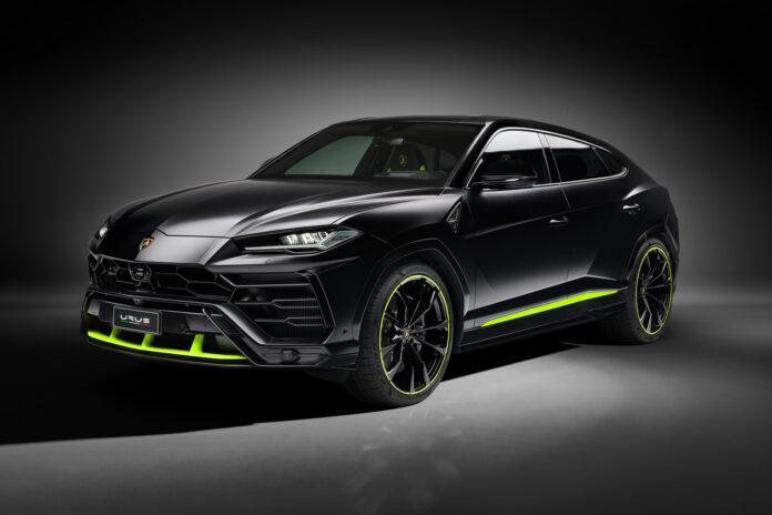 Lamborghini har på nye fargekombinasjoner til den voldsomme SUV-modellen Urus, og denne svarte er både elegant og stilig. (Fotos: Lamborghini)