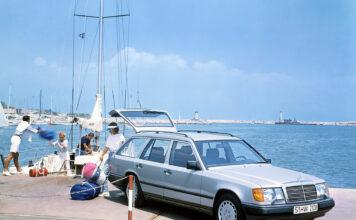 Mercedes introduserte en ny stasjonsvogn i E-klassen for ganske så nøyaktig 35 år siden. (Fotos: Mercedes)