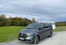 Dette er den første Mercedes EQV i Norge, og vi kjørte den en halv time. (Fotos: Nybiltester)