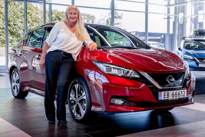 Nissan har rundet 500.000 eksemplarer av elbilen Leaf, og den ble levert til norske Maria på verdens elbildag 9. september. (Fotos: Nissan)
