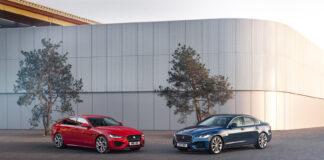 Jaguar kommer med oppgraderte versjoner av XE og XF. (Fotos: Jaguar)